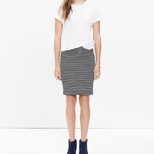NWOT Madewell Top-Rated City Skirt in Stripe